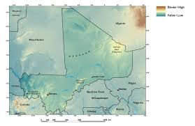 Mali Africa Map by Ecoregions And Topography Of Mali West Africa