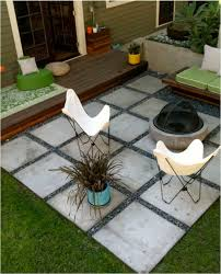 Tiling A Concrete Patio by Square Paver Patio With Stones Between Pavers Patio U0026 Yard