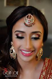 makeup and hair for sangeet indian wedding gold and pink www