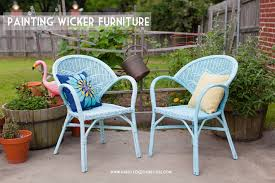 nice decoration painted wicker furniture inspirational design