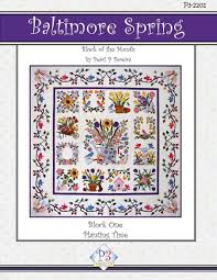 amazon com p3 designs baltimore spring bom applique quilt pattern