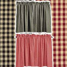 Country Curtains Sturbridge Plaid by Primitive Country Curtain Tiers
