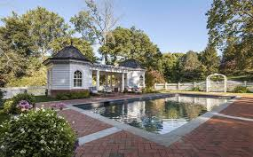 pool house douglas vanderhorn architects colonial revival pool house