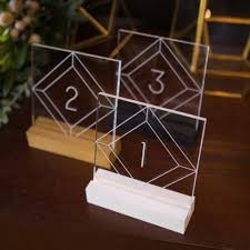 wedding table numbers acrylic table numbers for wedding tables z create design