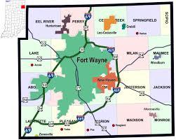 map of allen cemeteries of allen county ingenweb project
