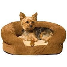 amazon com k u0026h pet products ortho bolster sleeper pet bed small