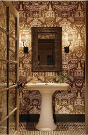wallpapered powder rooms