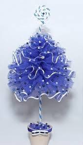 Small Blue Christmas Decorations by 50 Best Christmas Tulle Trees Images On Pinterest Tulle