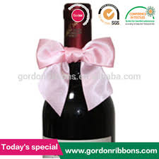 wine bottle bows gift ribbon bow for wine bottle buy satin ribbon pre made bows