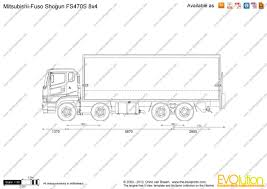 mitsubishi truck 2000 the blueprints com vector drawing mitsubishi fuso shogun