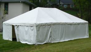 white tent rental frame tent solid wall 9 x20 partytime rentals