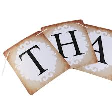 thank you wedding card banner bunting wedding sign married photo