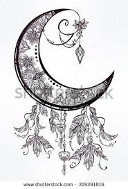 34 best man in the crescent moon tattoo flash images on pinterest
