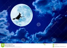 halloween full moon background halloween witch flying moon broomstick stock photos images