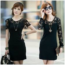 Black Cocktail Dresses With Sleeves Turmec Black Lace Long Sleeve Cocktail Dress