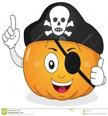 pirate pumpkin with eye patch u0026 skull hat stock vector image