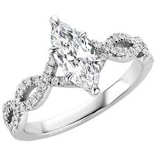 marquise cut diamond ring certified 0 86 carat marquise cut diamond platinum engagement