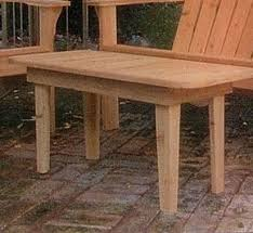 Adirondack Coffee Table - outdoor furniture
