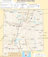 Map States Usa by New Mexico State Map A Large Detailed Map Of New Mexico State Usa
