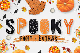 spooky font extras display fonts creative market