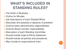 what s included bylaws standing rules code of ethics ppt video online download