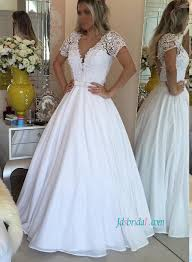 Short White Wedding Dresses Chiffon Wedding Dresses For Beach Bohemian Destination Wedding