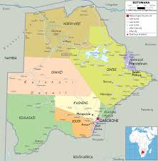 Map Of Southern Africa by Cool Map Of Botswana Travelsmaps Pinterest Africa Travel