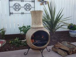 modern chiminea for outdoor decoration with or without grill