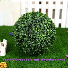 Outdoor Topiary Trees Wholesale - aliexpress com buy factory sale plastic hanging green grass ball
