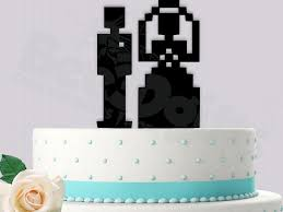 and groom cake toppers decor 8 bit and groom cake topper 2455251 weddbook