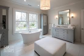 Tall White Linen Cabinet Bathtub Between Tall Freestanding Gray Mirrored Linen Cabinets