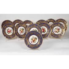 davis collamore co fruit plates by spode copelands china 12