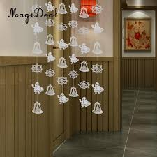 36pcs set santa claus snowflake bell garland birthday