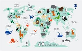 World Map Decal Map Decal World Map Children Wall Decal