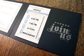 Pocket Invitation Cards Letterpress Wedding Invitation Metallica Spiffy Press Santa