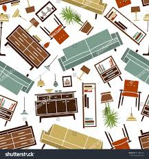 seamless pattern soft cabinet furniture interior stock vector