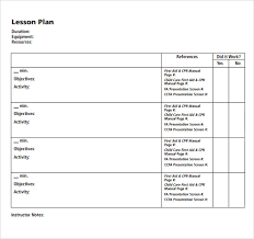 blank lesson plan template 11 download free samples examples