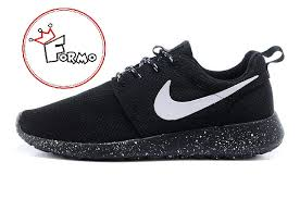 Nike Oreo custom nike roshe run oreo athletic running shoes white speckled on