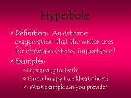 figurative language definition writing that uses hyperbole