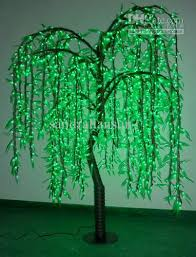 2018 top quality 1 6m green led weeping willow tree lights from