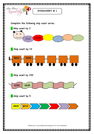 grade 3 maths worksheets 4 digit numbers 1 6 skip counting 4