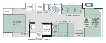 Thor Fifth Wheel Floor Plans by Chateau Class C Motorhomes Floor Plan 31y Thor Motor Coach