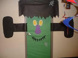 halloween door with black background halloween classroom door