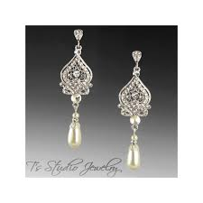gold earrings for wedding pearl bridal earrings in silver gold or gold