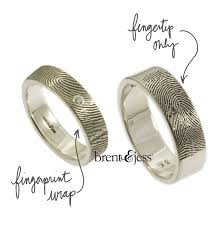 personalized wedding band personalized fingerprint wedding bands from brent jess