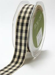 checkered ribbon may arts 7 8 inch solid ivory checkered ribbon black akb 10