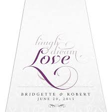 personalized aisle runner expressions personalized aisle runner weddingstar