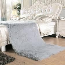 Faux Fur Sheepskin Rug Grey Sheepskin Rug Promotion Shop For Promotional Grey Sheepskin