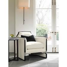 Modern Trim by Octavio Modern Black Tuxedo Trim Ivory Chair Kathy Kuo Home