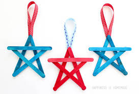 4th of july craft popsicle stick streamers happiness is
